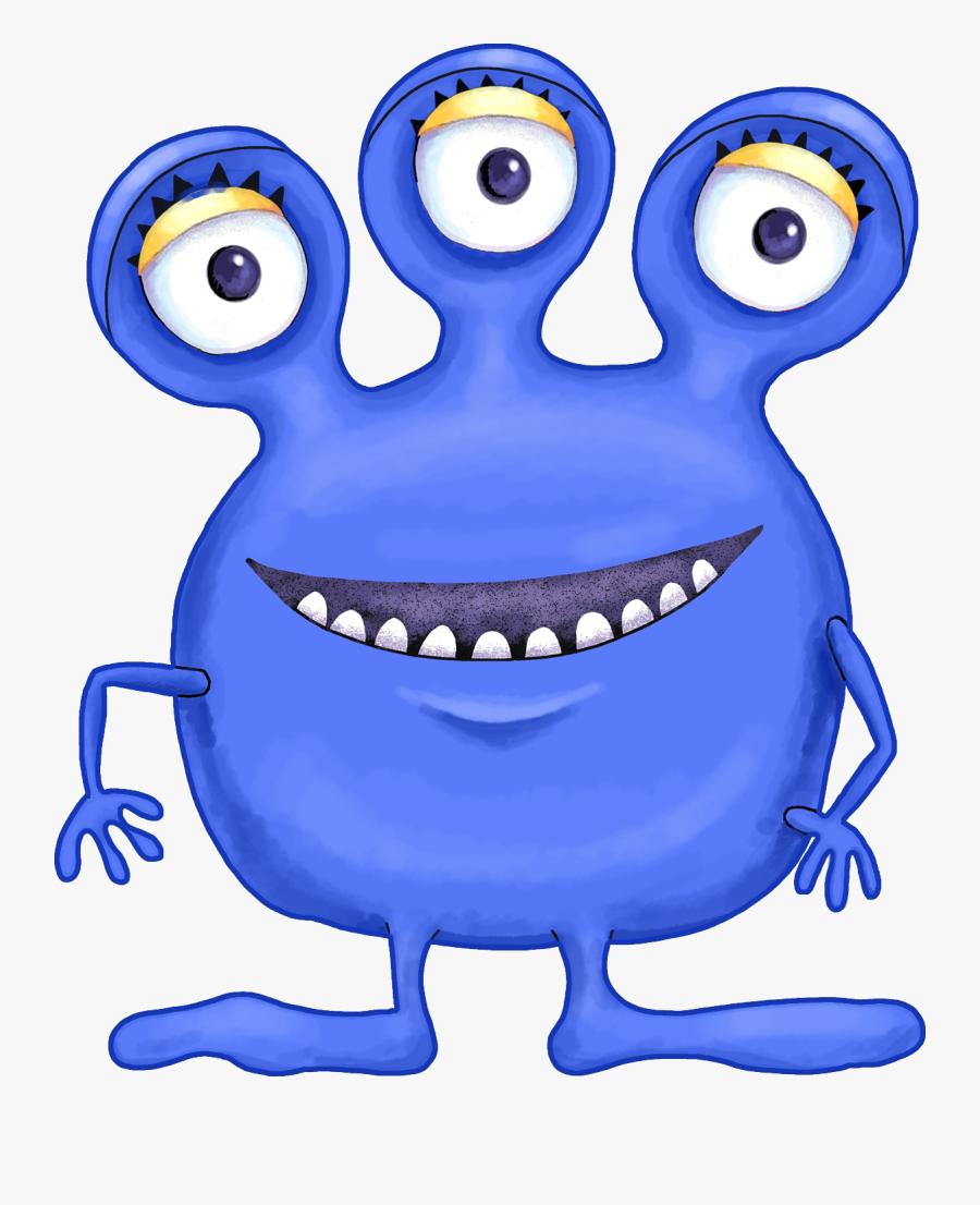 Blue Alien Clipart.