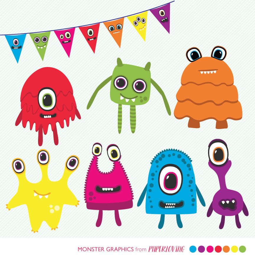1636 Monsters free clipart.