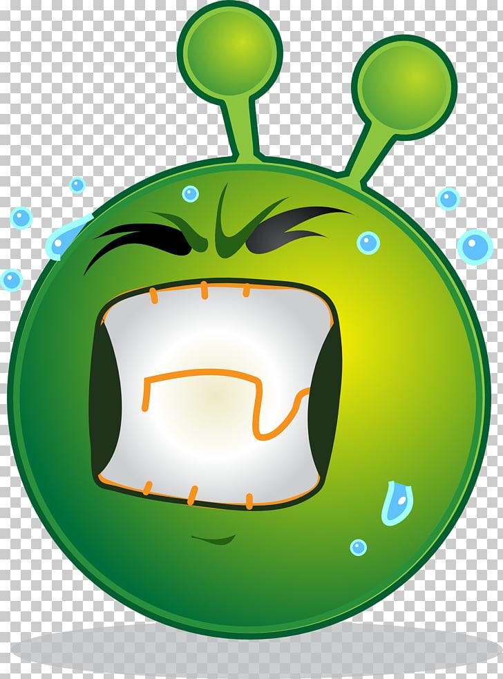 Smiley Emoticon Extraterrestrial life , sick PNG clipart.