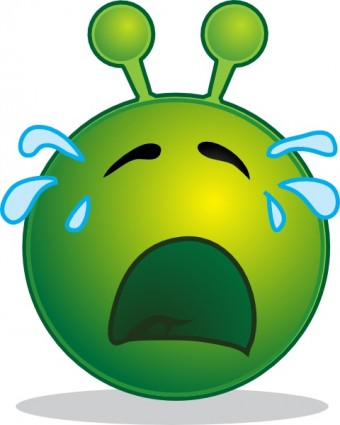 Sad Alien Clipart.