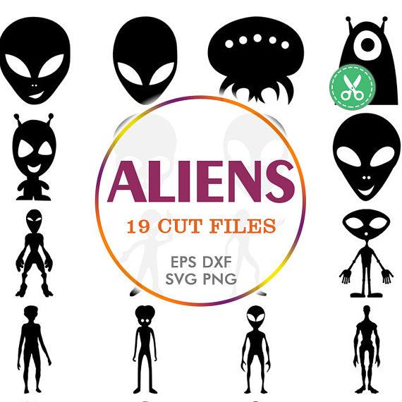 Alien Clipart Silhouette.
