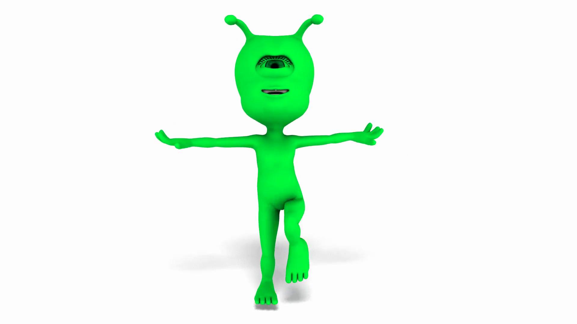 Digital Animation of a dancing Alien.