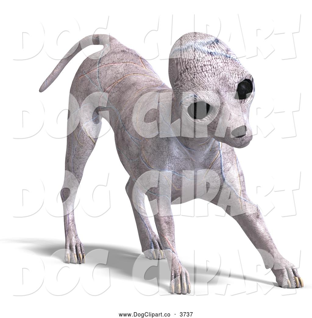 Vector Clip Art of a 3d Alien Dog by Ralf61.