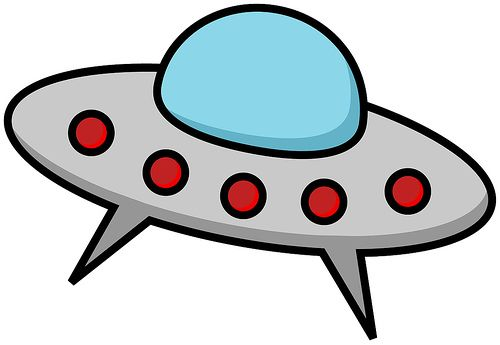 Flying Saucers Clip Art.