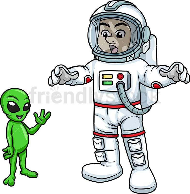 Male Astronaut In An Unexpected Meeting With An Alien in.