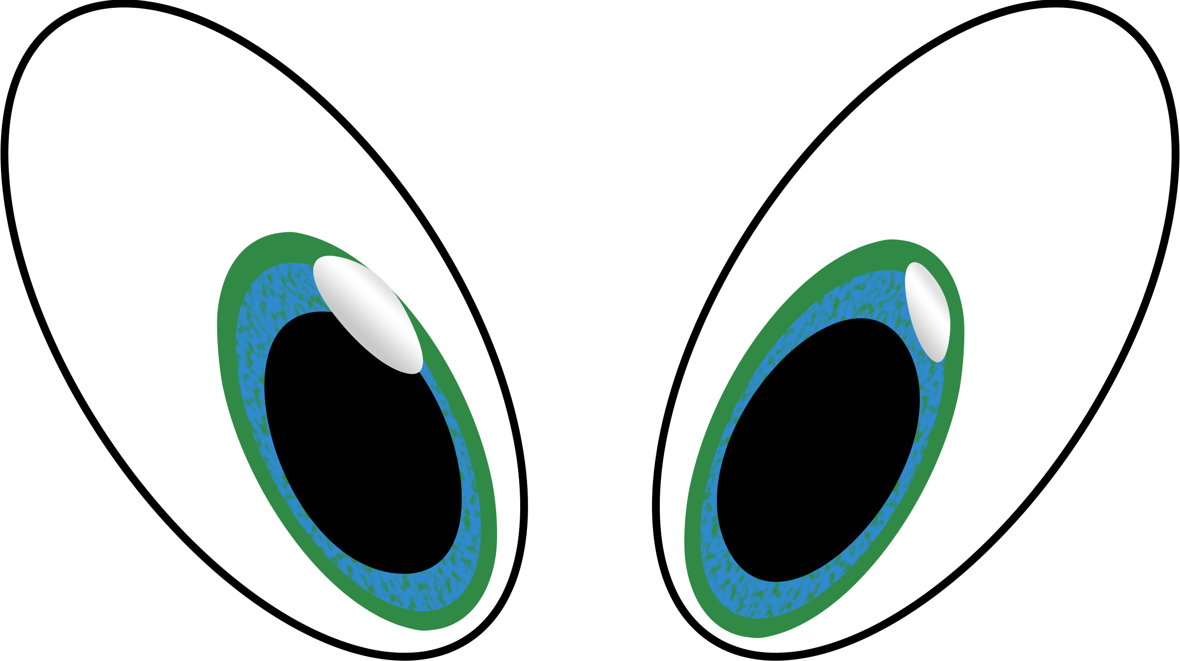 9683 Eyes free clipart.