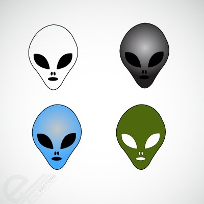 Free Alien vector faces Clipart Picture Free Download.