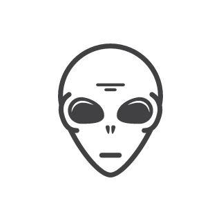 Alien Face Clipart.