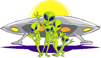 Alien researching people clipart.
