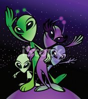 Alien Family stock vectors.