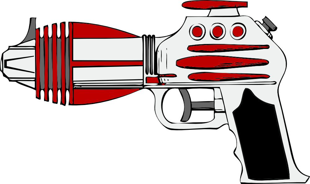 Cartoon gun clipart.
