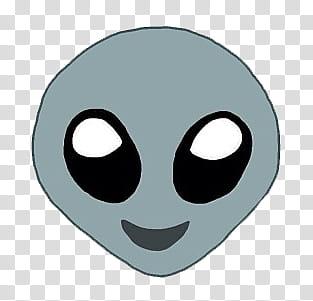 Emoji , alien head cartoon sticker transparent background.