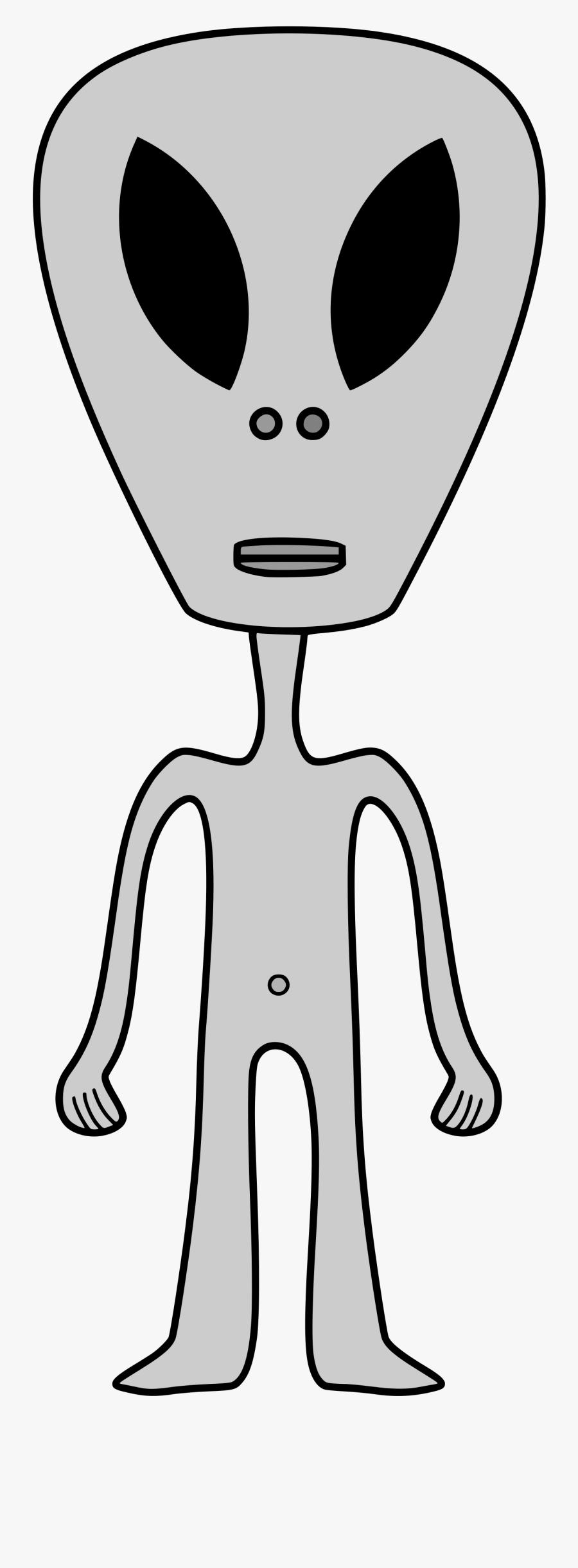 Transparent Alien Head Clipart.