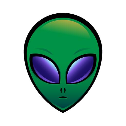 Alien head vector illustration.