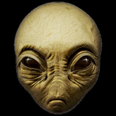 Green Alien Head transparent PNG.
