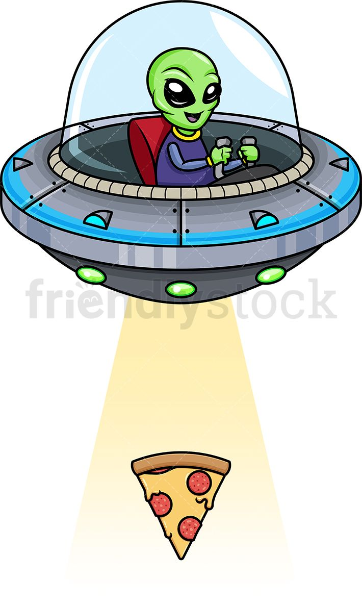 Alien Kidnapping Pizza Slice in 2019.
