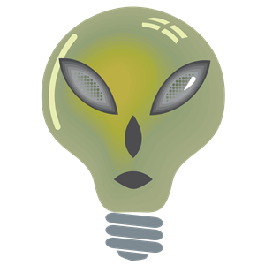 alien light bulb clipart, cliparts of alien light bulb free.