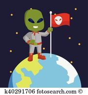 Alien invasion Clipart and Illustration. 377 alien invasion clip.