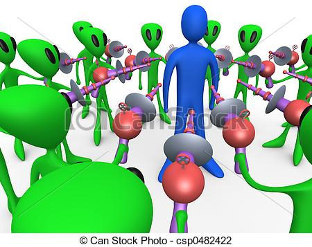 Clip Art of Alien Invasion #2.