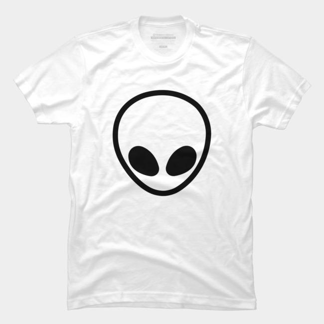 Simple Black Alien Logo T Shirt By JusteenTV Design By Humans.