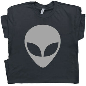 Details about Alien T Shirt Head Symbol UFO Logo Tee Area 51 Roswell  X.