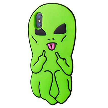Amazon.com: 3D Cartoon Aliens Middle Finger Rubber Soft Cute.