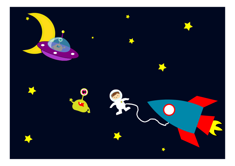 Clipart Aliens Space.