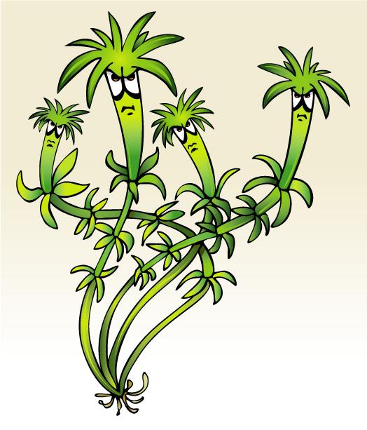 Alien Plants Clipart.