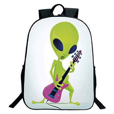 Amazon.com: Pictures Print Design Black School Bag.