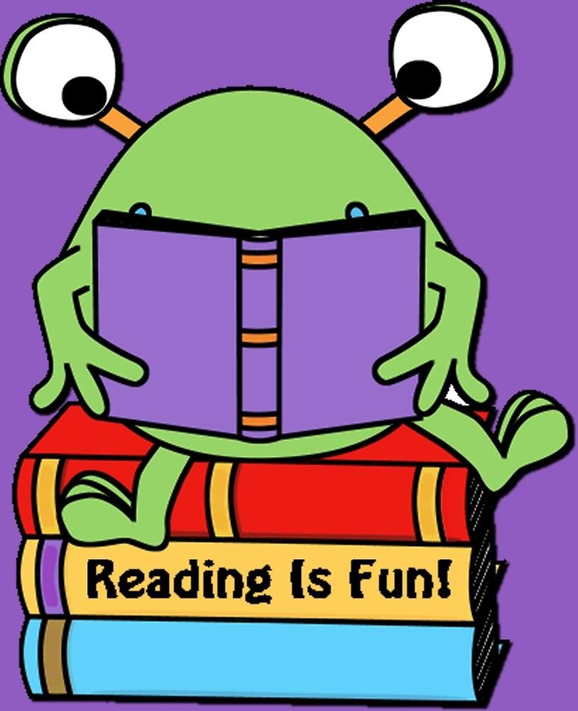 Reading Is Fun Cute Book Loving Alien\