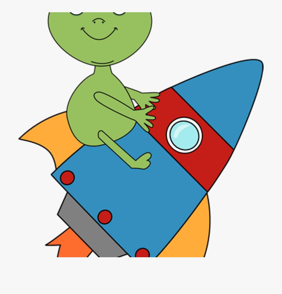 Rocket Clipart Alien Riding On A Rocket Clip Art Alien.