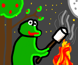 Alien roasting a marshmallow clipart clipart images gallery.