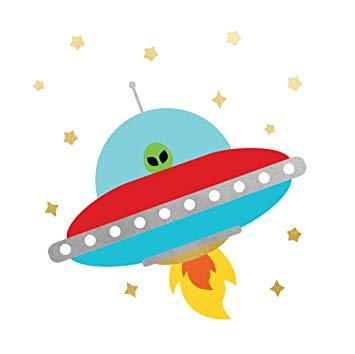 Amazon.com : SPACE EXPLORER ALIEN SPACESHIP party tats set.