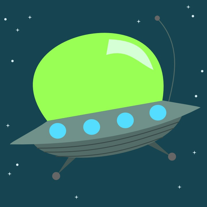Cute Alien Space Ship.