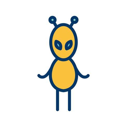 Alien Vector Icon.