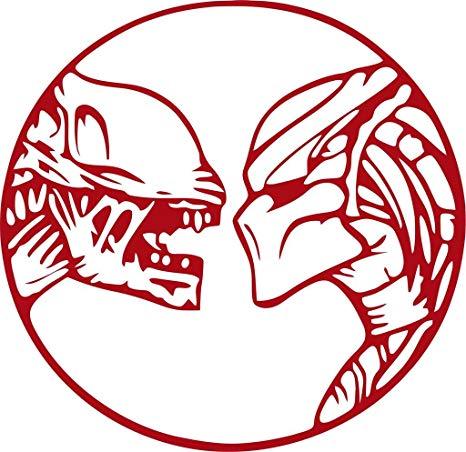 Alien Vs. Predator Vinyl Die Cut Decal.