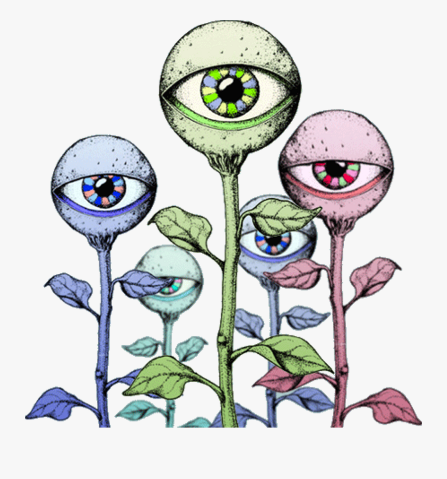 alien #eyes #trippy #hologram #hippy #flower #plant.