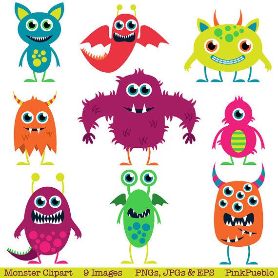 Cute Monsters Clip Art Clipart Aliens Clip Art Clipart.