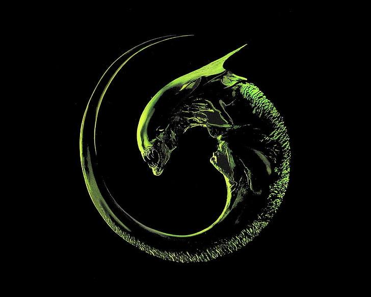HD wallpaper: alien logo, Alien (movie), aliens, Xenomorph.