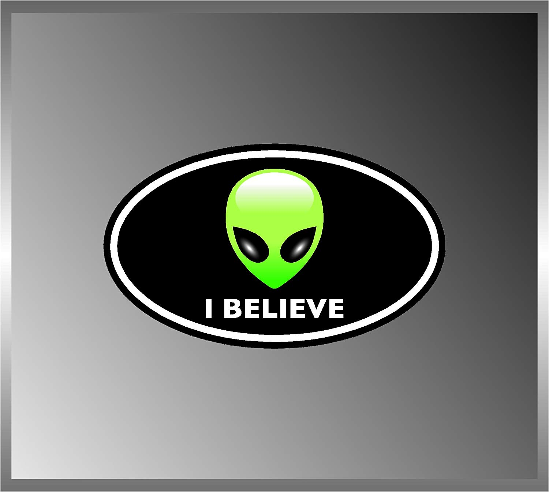 Aliens Alien I Believe Logo Full Color Vinyl Euro Decal Bumper Sticker 3\