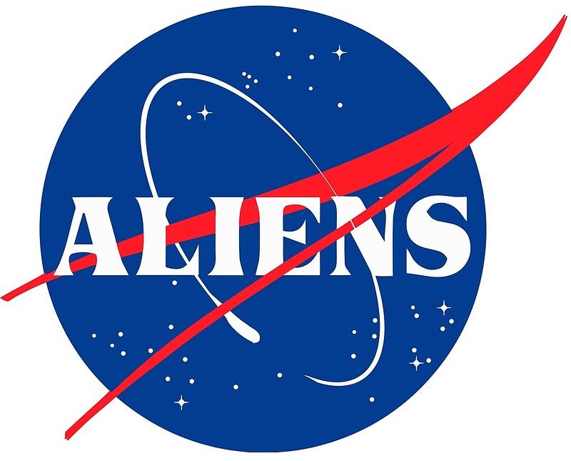 Nasa Aliens Parody Logo.