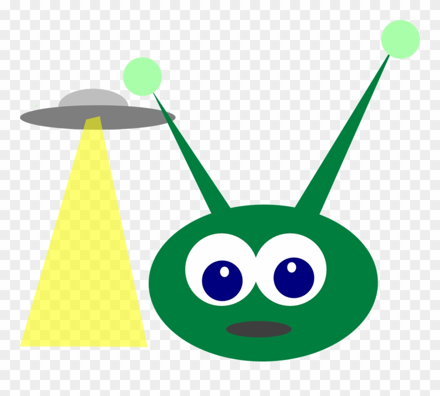 Green Alien With Antenna Clipart (#333222).