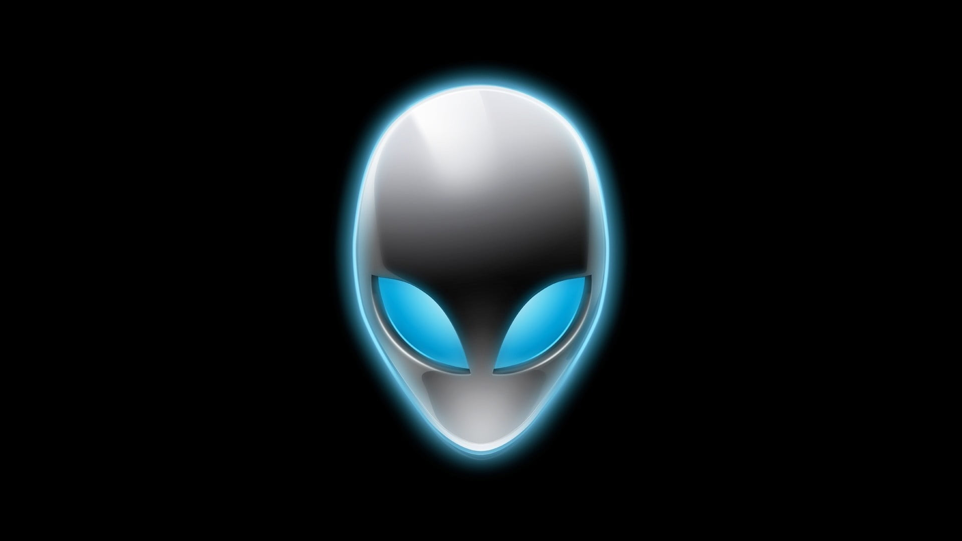 Alienware logo, digital art, simple background, aliens HD.
