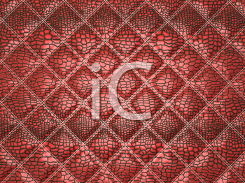 Royalty Free Clipart Image of a Red Alligator Skin.