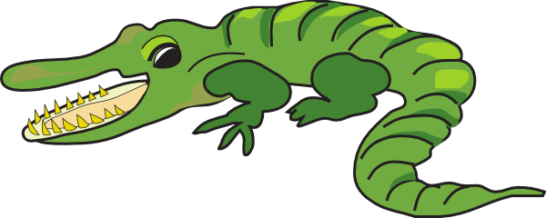 Open Mouthed Alligator Clip Art at Clker.com.