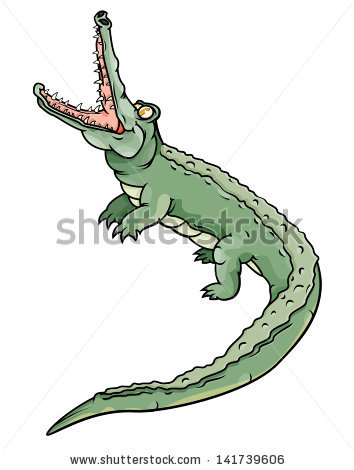 Cartoon Alligator Stock Images, Royalty.