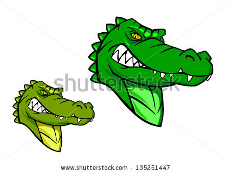 Gator Head Stock Images, Royalty.