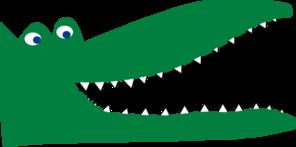 Green Crocodile Clip Art at Clker.com.