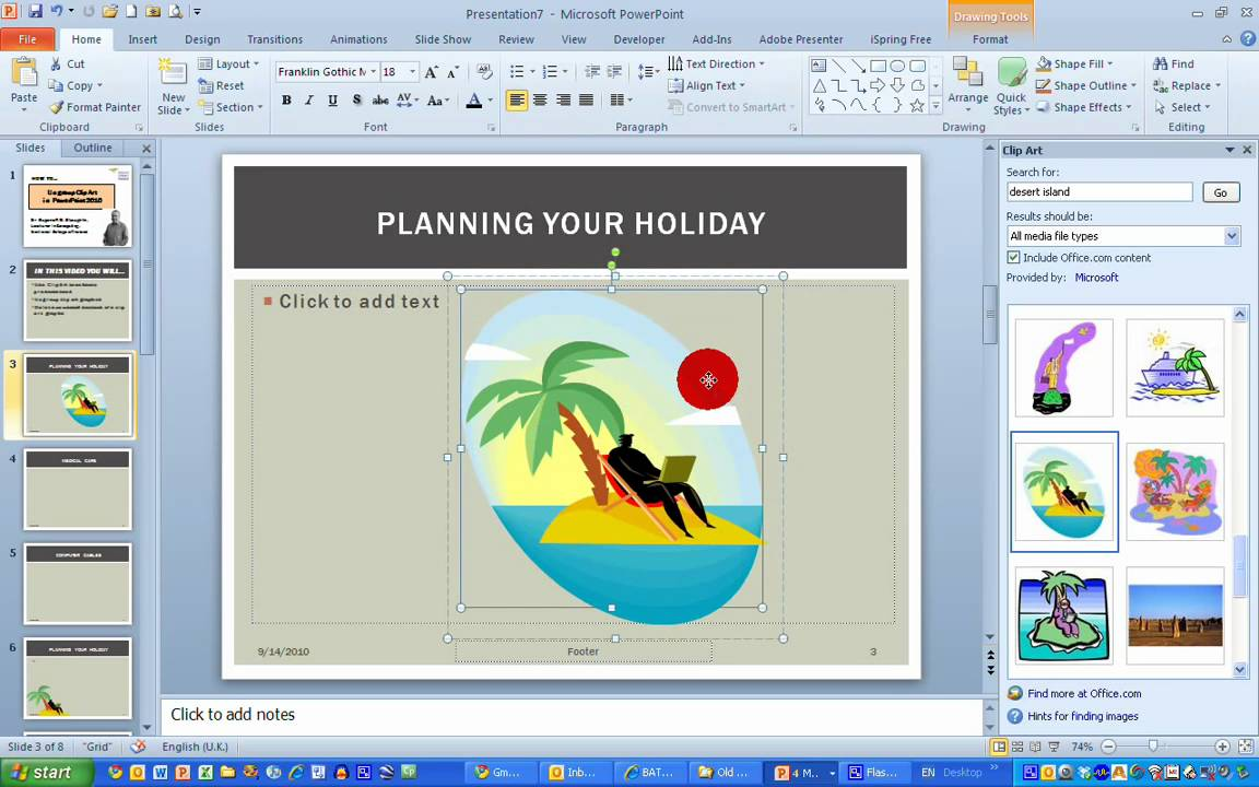 How ToUngroup Clip Art in PowerPoint 2010.