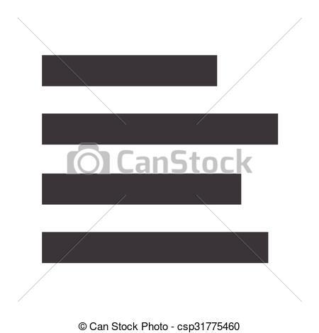 Clip Art Vector of align left icon sign Illustration csp31775460.